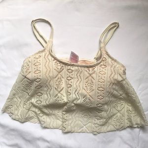 xhiliration lace bikini top